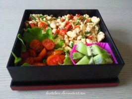 scrambled eggs bento by BentoLove