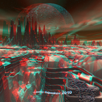 Hypothetical Planet Anaglyph by Osipenkov