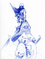 Frazetta Doodle by WimpleToad