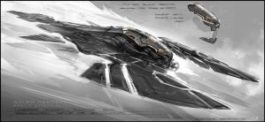 Jupiter Ascending Wraith Attack Ship Concept by inuboy86