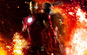 Iron Man 2 War Fire by rehsup