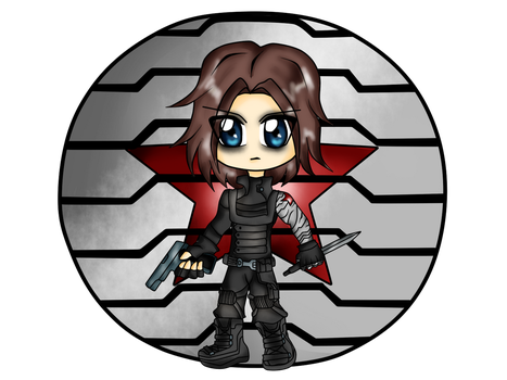 Chibi Winter Soldier by SilverShadowXIII