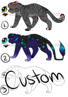 Point Adoptables - Felines [OPEN] by Keisharall
