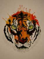 Watercolors: Tiger by partymursu