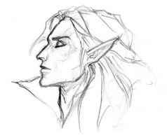 Elric of Melnibone: Sketch by perkywren