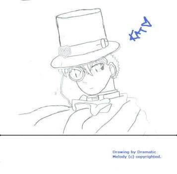 Kaito Kid - NonColored by Dramatic-May