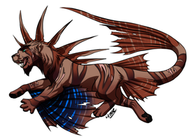 Gedeon the blackfoot lionfish cat by TrickyGreaser