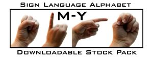 Sign Language AlphabetPack M-Y by Della-Stock