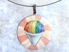 Snow Cone Pendant Necklace by sobeyondthis