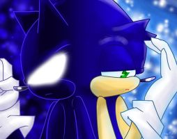 Dark Sonic and Sonic by DarkSonicSTHMC