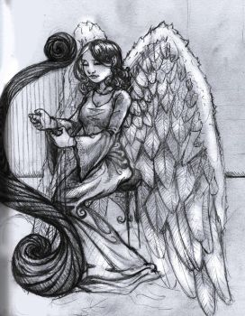 Angel 1 Pencil by seventhtrial777