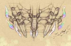 _fantasy airship sketch by dimodee