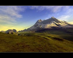 Mount St. Helens in Green by stotty