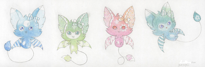 Little bats I adopted by emodroide-douloureux