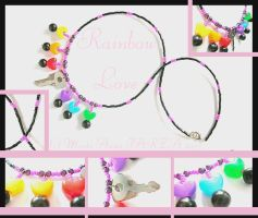 Rainbow Love Necklace by yuki-the-vampire