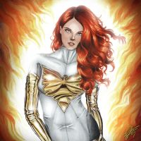 Marvel Heroes - White Phoenix by davidgozu
