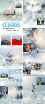 Clouds Photoshop Action by GraphicAssets