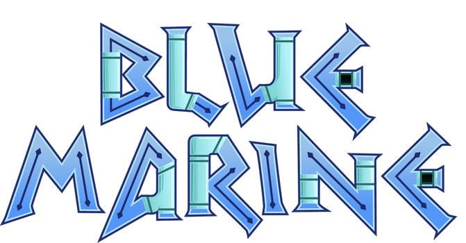 Blue Marine Logo by The-Quill-Warrior
