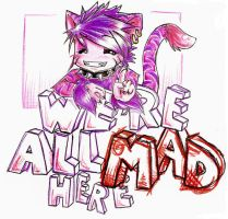 Cheshire cat says: by imaginated-friend