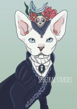 Fancy sphynx cat by Esther-Viola