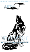 Waterfall Wolves Tattoo by WildSpiritWolf