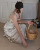 Elegant Basket Girl 03: Kneeling by fuguestock