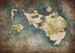 Commission - Penngrad worldmap by Tiphs