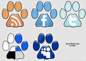 Footprint Social Media Icons by Ireth21
