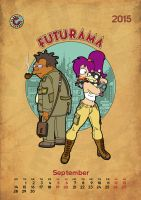 Futurama, calendar 2015, page 9 by bear-bm