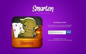 Smarten app coming soon website by michalkosecki