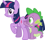 Spike...are you touching my...? by porygon2z