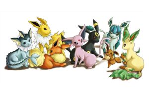 Eeveelutions 2009 by syunrii