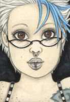 Cleo wetmoon fanart aceo by vashley
