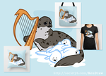 5102014 Harp Seal Mama n' Babies by KenDraw