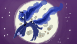 Smudgy Luna by bibliodragon