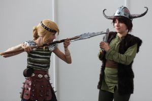How to Train your Dragon - Hiccup and Astrid by haricovert-cosplay