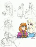 Sketches- Frozen by Kiyomi-chan16