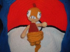 Scraggy Pokemon Crochet by Nanettew9