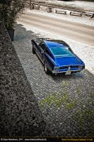 Blue S-Code Mustang V by AmericanMuscle