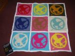 Mockingjay Pop Art Blanket by Shywalker