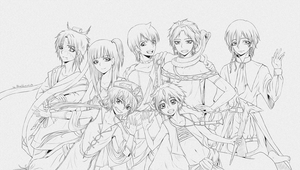 LineArt. Magi: The Kindom Of Magic by BlackLawliet