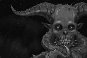 Alien Demon - Black and White by Nharoth