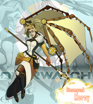 Steampunk Mercy by Wolf-of-DirtyPaws