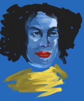 Woman and blue by orioncreatives