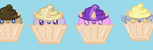 The Whooves Family as cupcakes by KiwiDoge