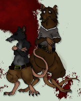 Redwall: Slipp and Blaggut by Vailwolf