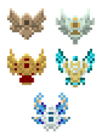 League of Legends Pixel Rank Badges by Deviant-Mell