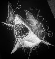 Zombie Shark by herrerabrandon60
