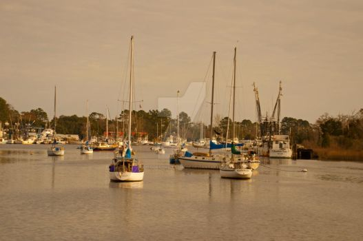 Sailboats In The Bay by Photography-by-Image