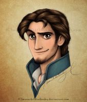 Eugene Portrait Color by MoonchildinTheSky